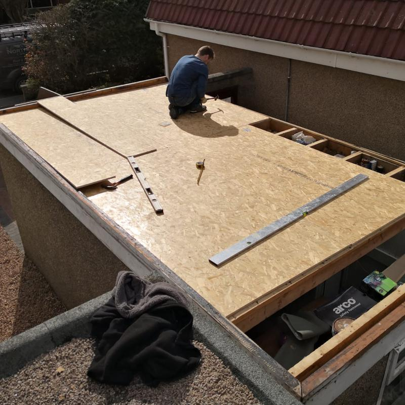 Image 21 - New flat roof reboarded