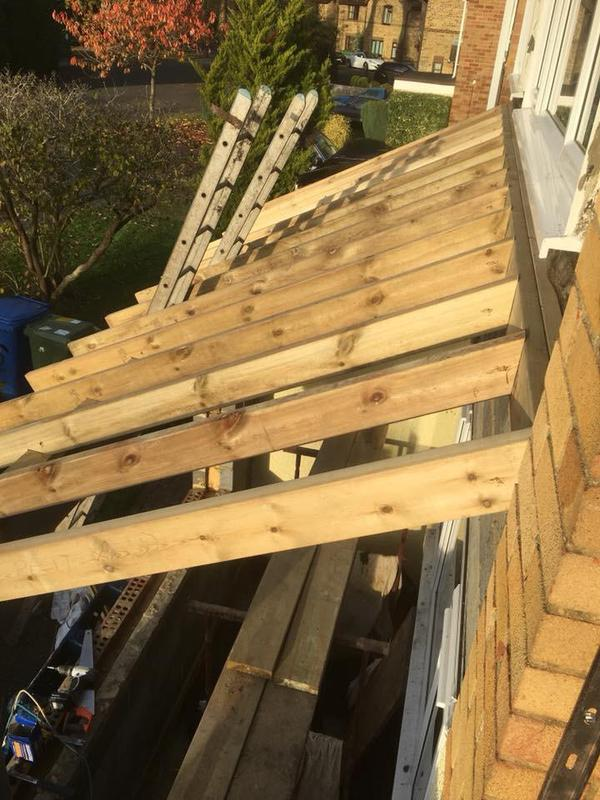 Image 38 - mono pitch roof on front extension