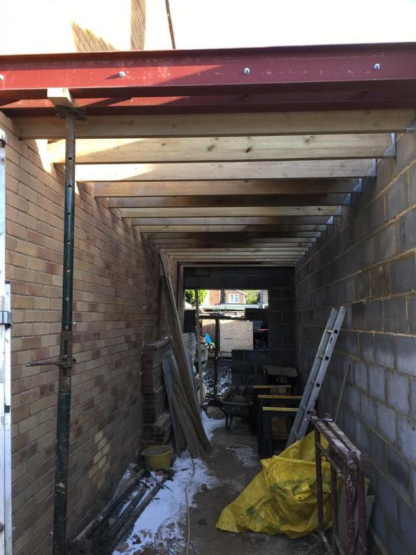 Image 41 - Steels going in