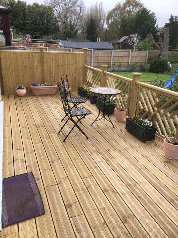 Image 46 - Raised decking ready for morning coffee