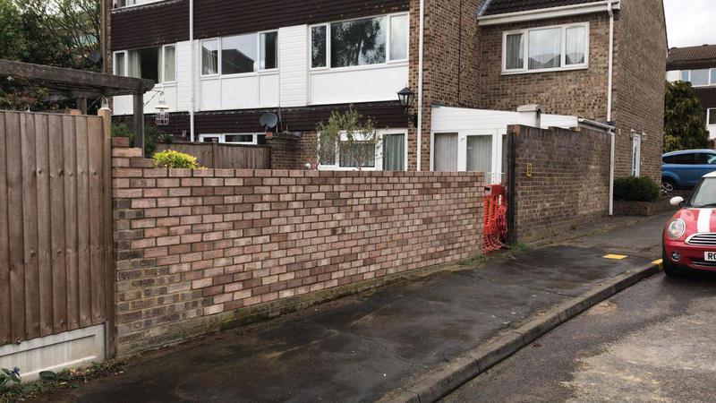 Image 40 - New brick wall