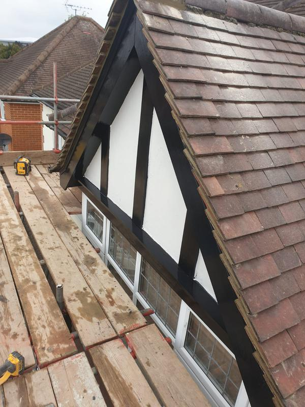 Image 1 - Replacement of timber fascia and re bed verges