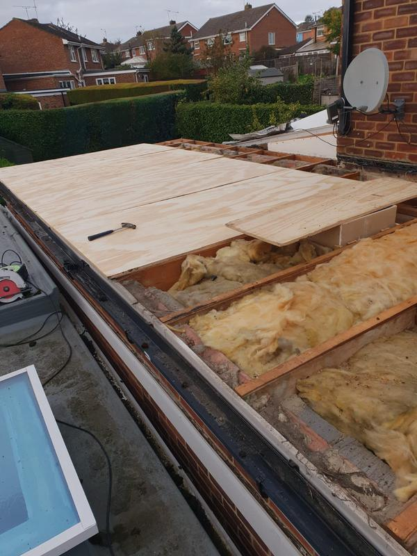 Image 29 - Re boarding a flat roof ready for felting