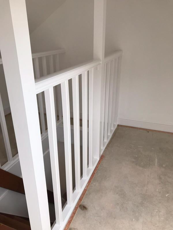 Image 51 - Bedroom repainted white walls and ceilings with gloss woodwork
