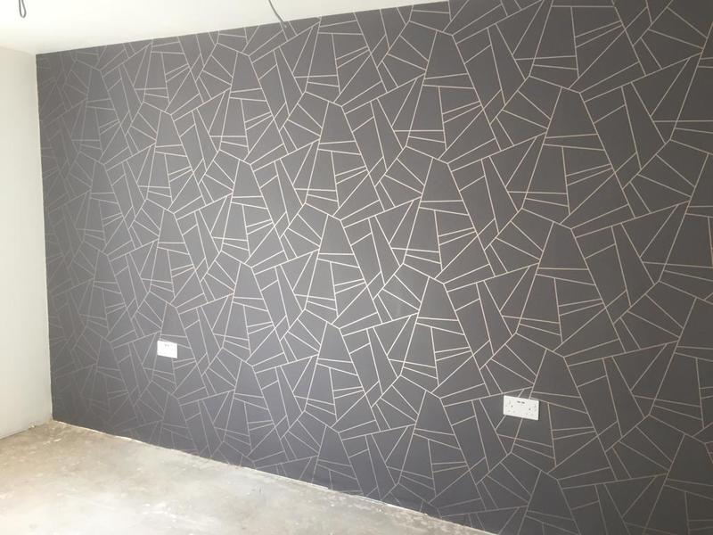 Image 59 - Feature wall papered