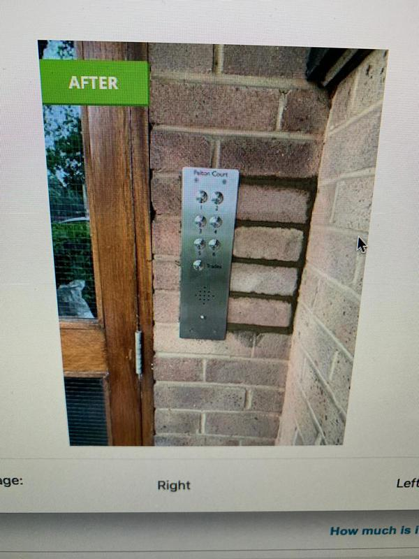 Image 9 - We replaced a faulty entry system at this block of apartments, when the cement dries it will match in with the original brick work