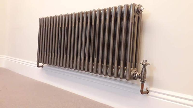 Image 9 - Additional radiator added to new system.