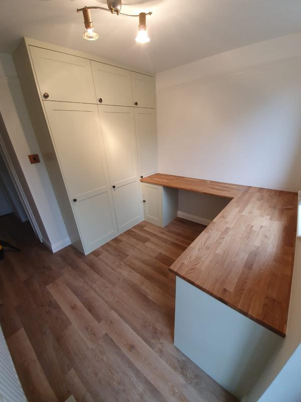 Image 1 - Bespoke study with solid oak desk.