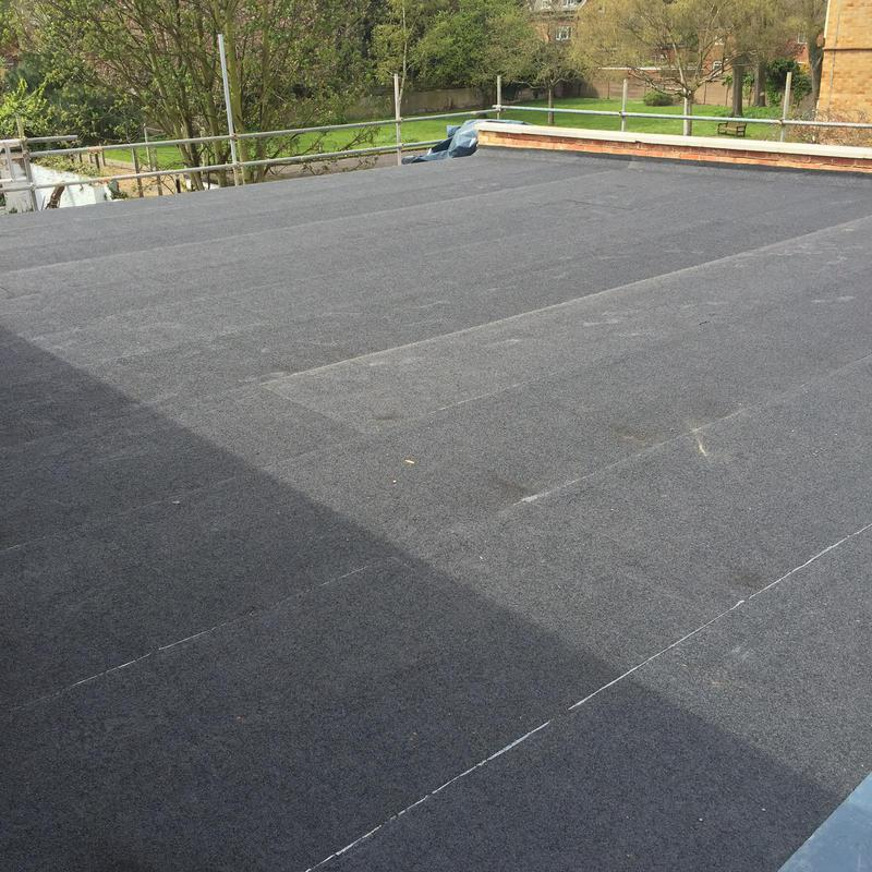 Image 30 - Biggest felt flat roof to date. 165 metres above the co op in Twickenham.