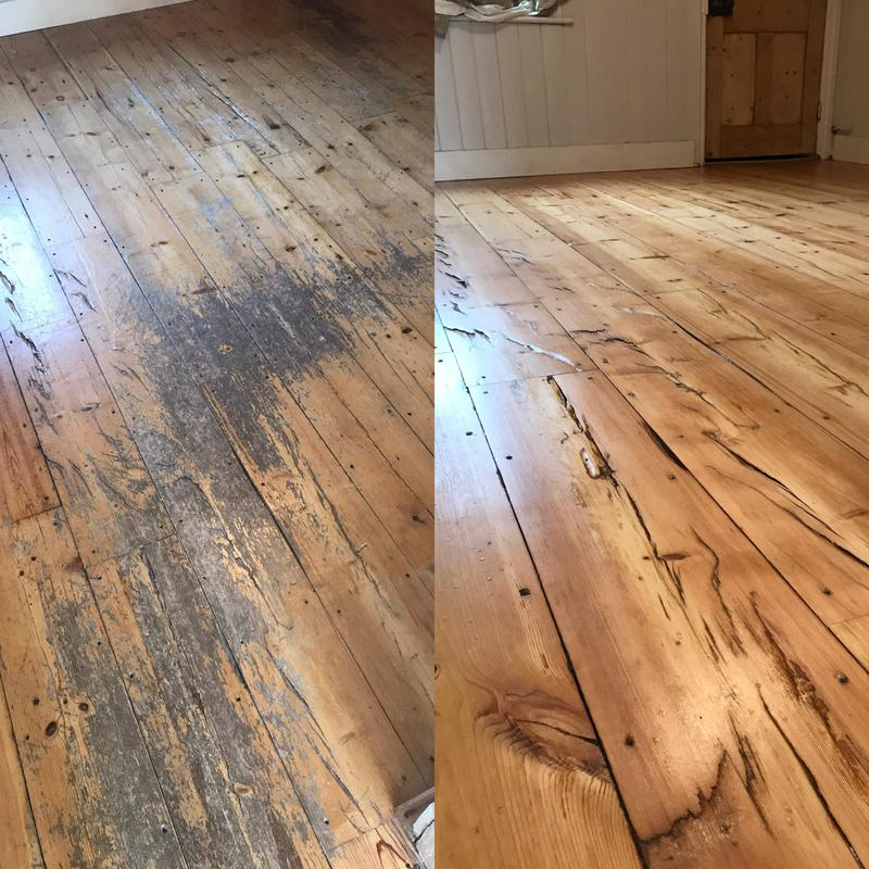 Image 27 - Pine floor restored. Sanded, smoothed and then coated in a commercial grade satin lacquer