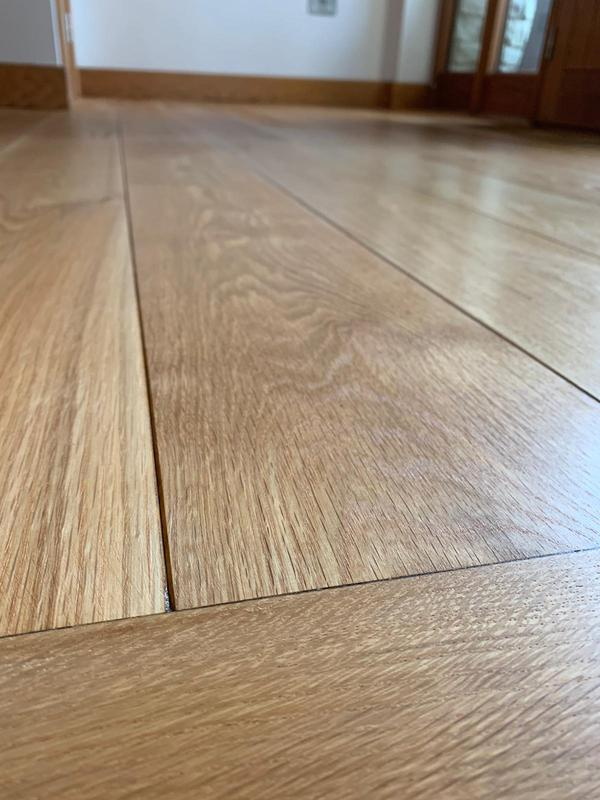 Image 23 - Engineered oak wood floor, this was sanded and then coated in an Osmo natural oil in satin. An absolutely beautiful finish.