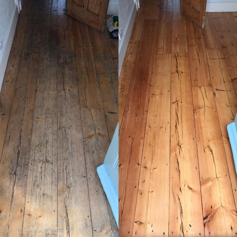 Image 16 - A pine floor in Tring. sanded back, smoothed and then coated in a satin lacquer for added protection