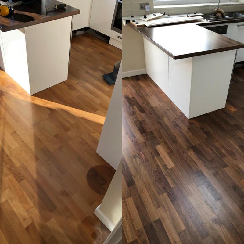 Image 18 - A lovely dark wood species, sanded and primed to a natural finish.