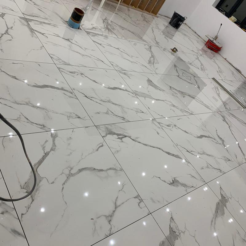 Image 94 - Ground floor 160 m2 tiling 1mx1m porcelain tiles with ditra mat and underfloor heating in Yardley
