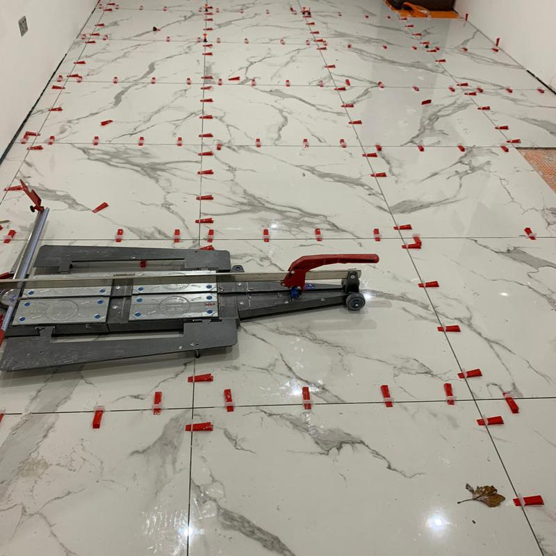 Image 93 - Ground floor 160 m2 tiling 1mx1m porcelain tiles with ditra mat and underfloor heating in Yardley