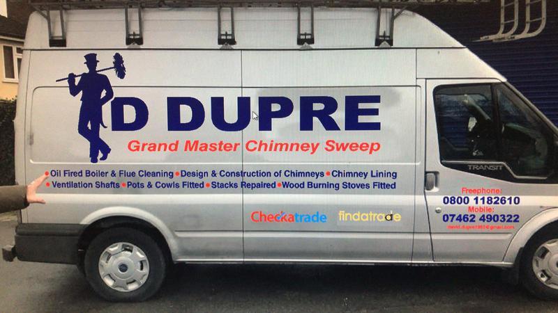David Dupre Grandmaster Chimney Sweep's logo