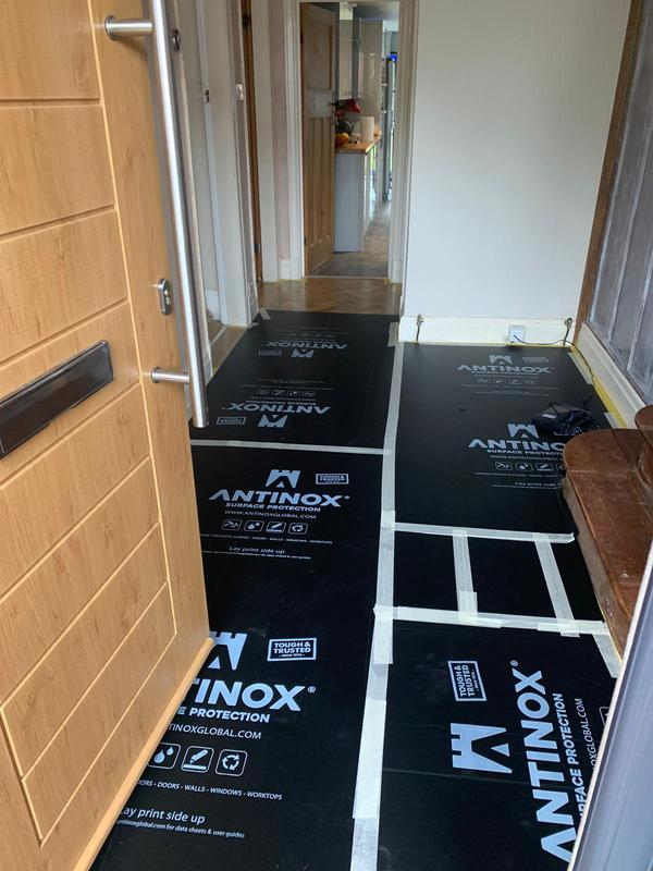 Image 4 - Flooring is always adequately protected prior to work starting.