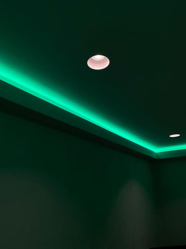 Image 4 - Plaster in downlights with RGBW perimeter LED Strip