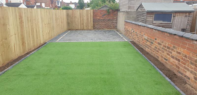 Image 22 - Artificial grass and paving