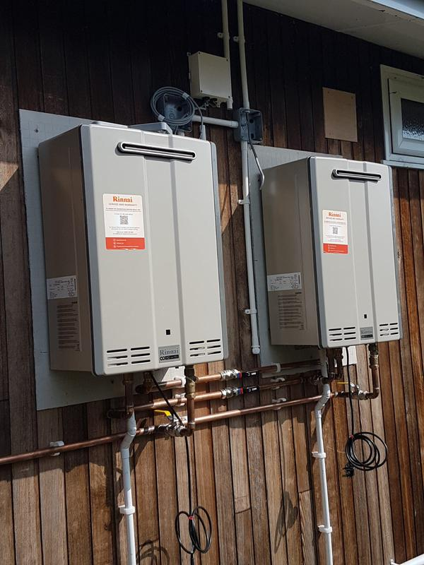 Image 1 - Install of new external water heaters for local sailing club.
