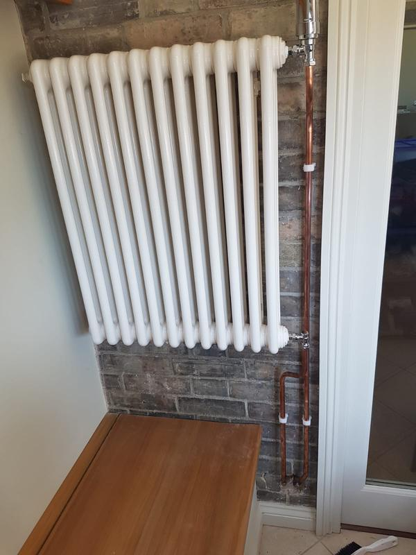 Image 6 - Client asked for a traditional style radiator to be installed in snug. Radiator sourced and installe
