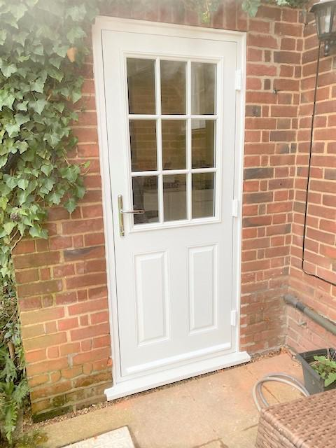 Image 19 - White cottage-style composite door