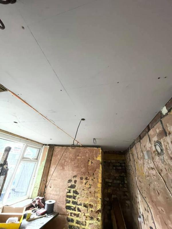 Image 52 - Whitefield Basement - During - Insulation and plasterboard are up