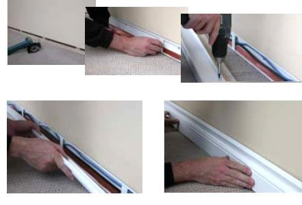 Image 22 - Examples of how we hide the cabling without having to chase walls