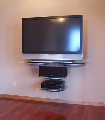Image 21 - Install wall mount and shelves. Put cabling into trunking/behind skirtings