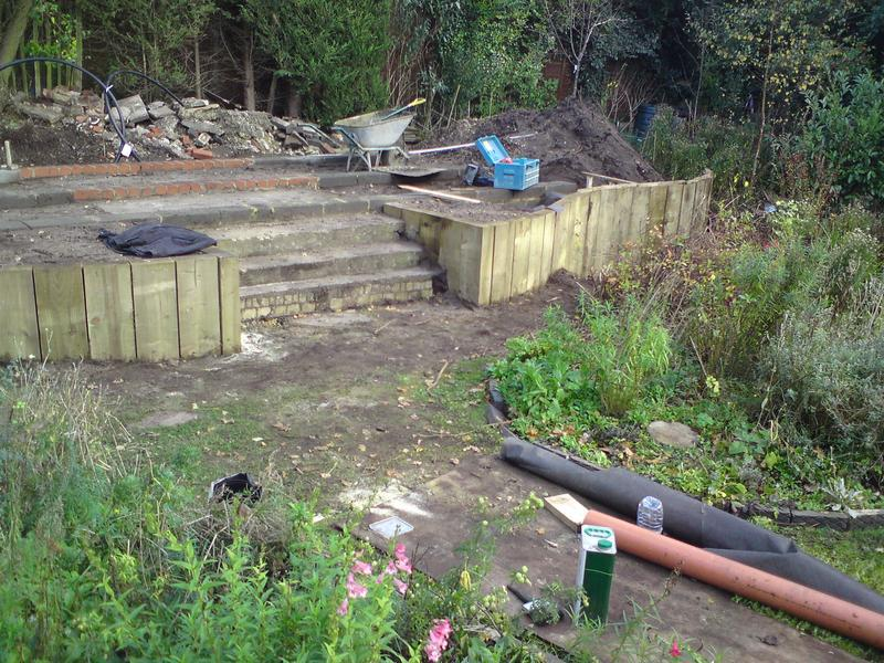 Image 5 - sleeper retainer wall,steps & cabin foundations Farnham