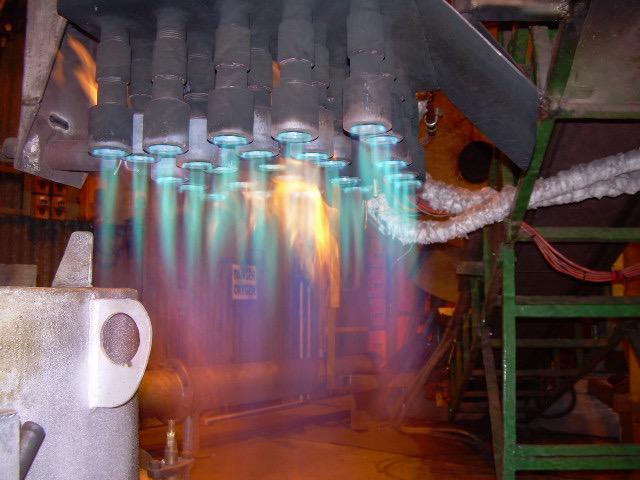Image 23 - Service to melting pot burners