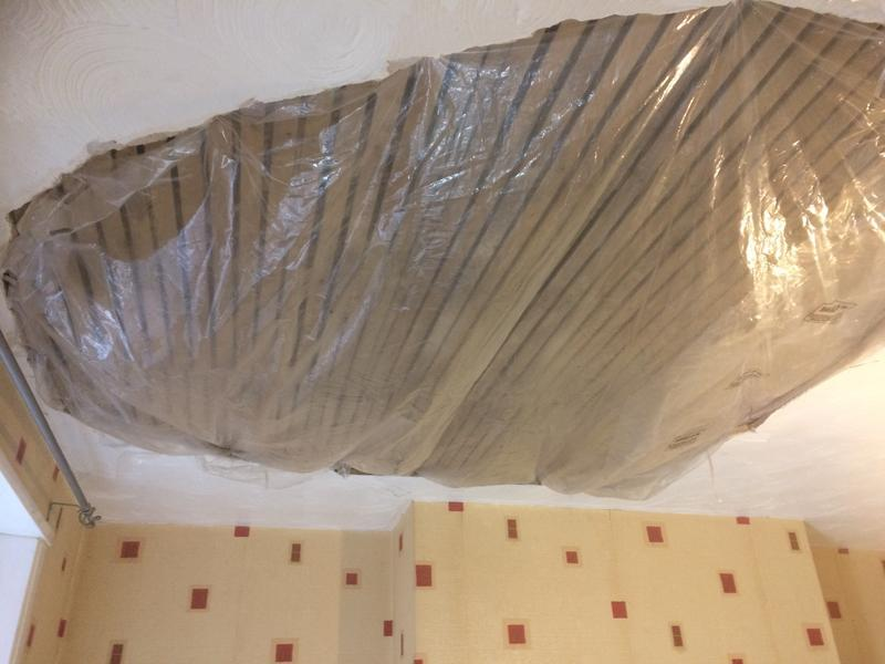 Image 38 - Damaged lath and plaster ceiling