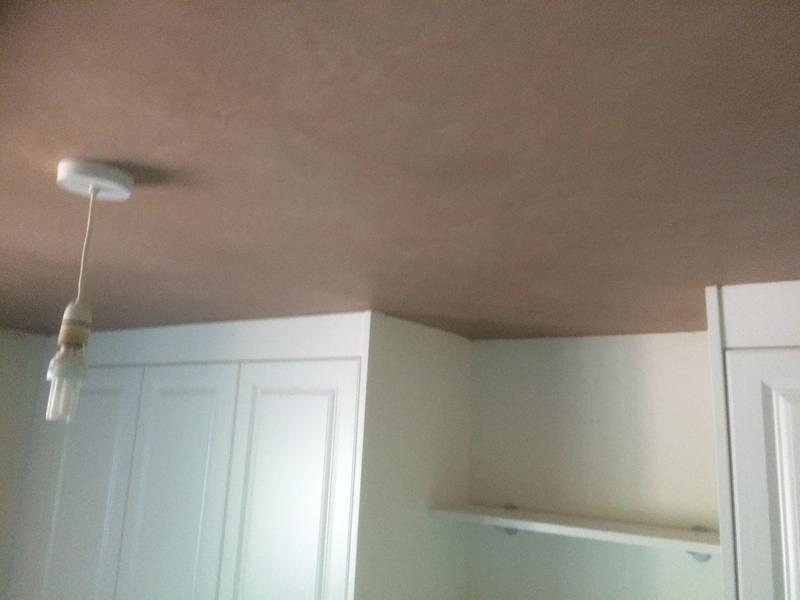 Image 41 - Bedroom artex ceiling re-plastererd