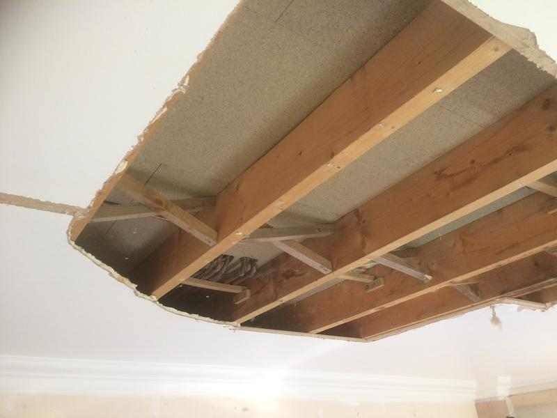 Image 27 - Damaged plasterboard ceiling