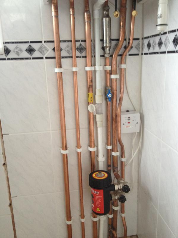 Image 7 - Pipework under a Ideal logic + 30kw boiler