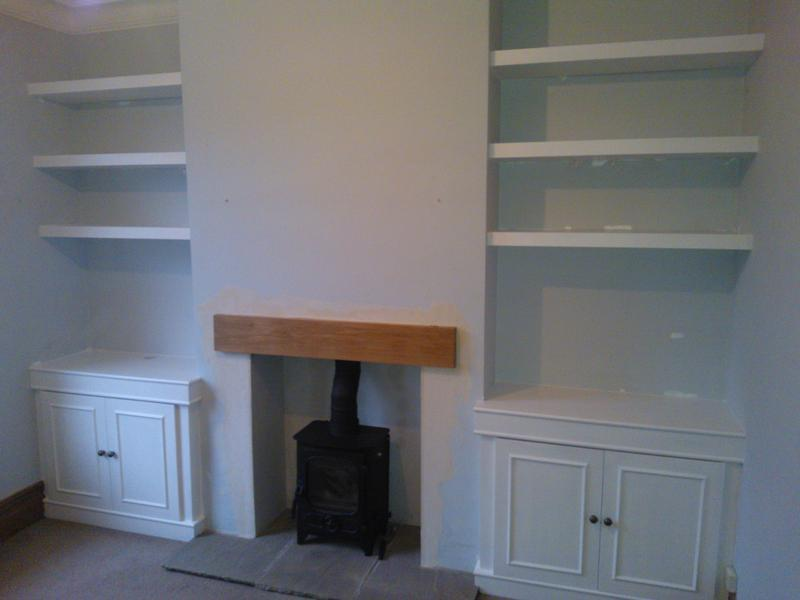 Image 24 - Floating shelves and cupboards to alcoves