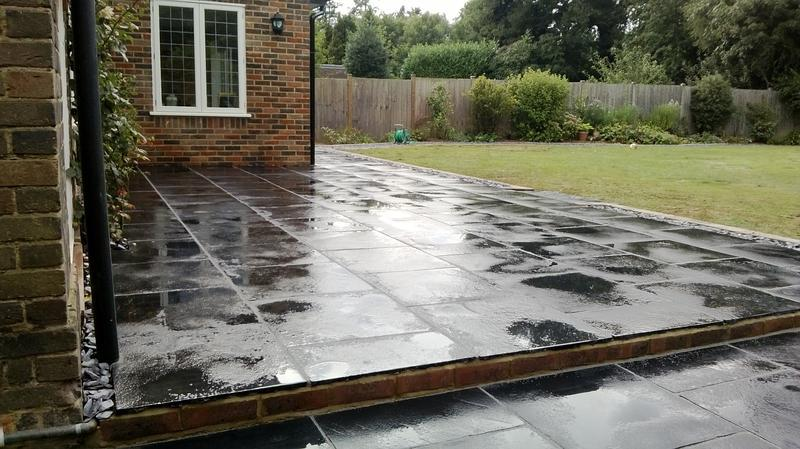 Image 26 - Patio in Blue Black Slate in Harpenden