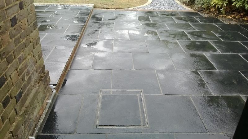 Image 27 - Patio in Blue Black Slate in Harpenden
