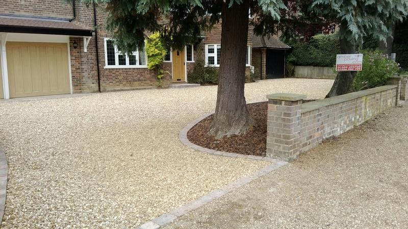 Image 30 - Shingle Driveway with feature steps & edgings in Harpenden