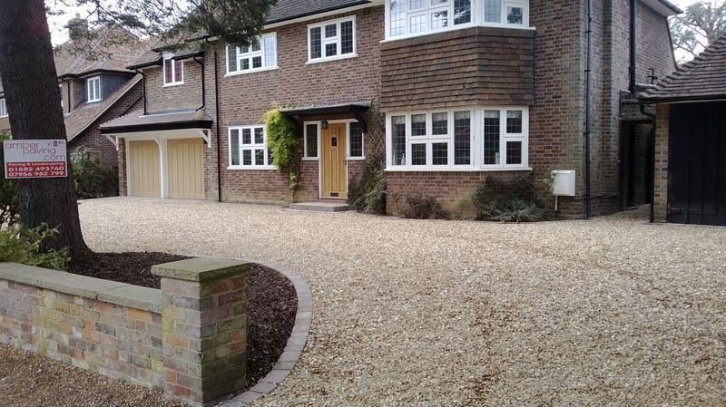 Image 29 - Shingle Driveway with feature steps & edgings in Harpenden