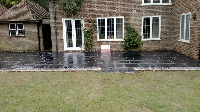 Image 24 - Patio in Blue Black Slate in Harpenden