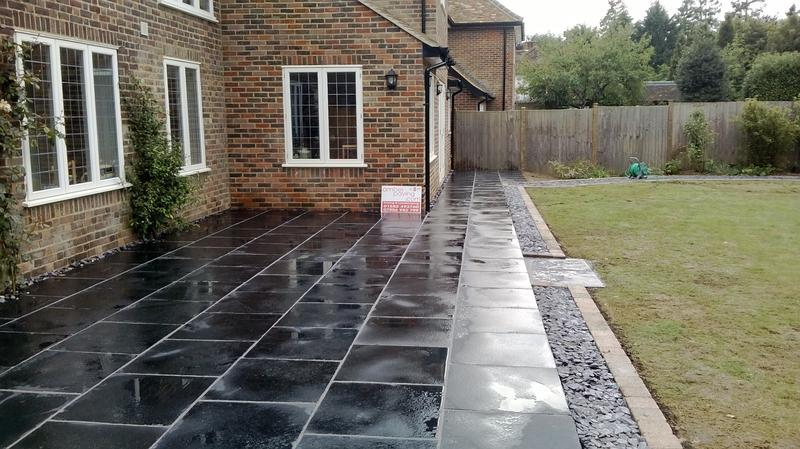 Image 28 - Patio in Blue Black Slate in Harpenden