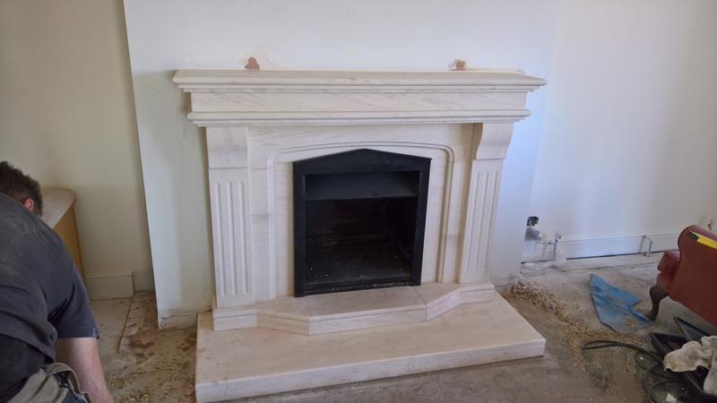 Image 33 - solid fuel fire with limestone surround