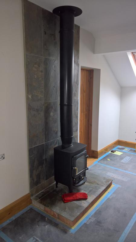 Image 21 - twin wall flue with clearview stove and tiled effect