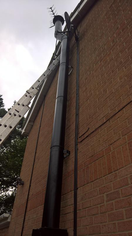 Image 31 - black twin wall flue system