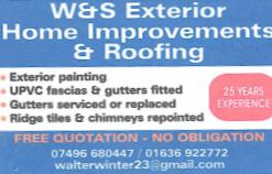 W&S Exterior Home & Roofing logo