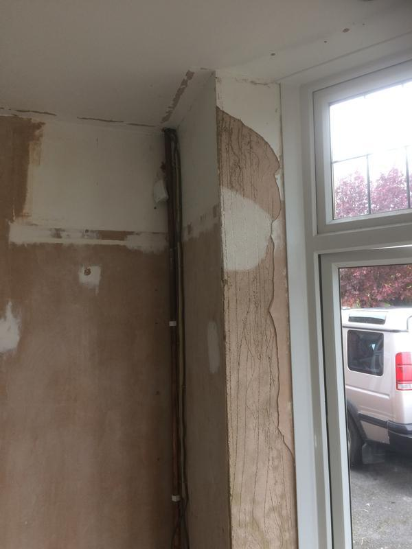 Image 42 - pipe work, damaged window reveal