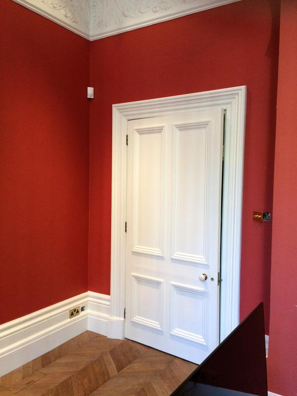 Image 18 - Library room ceiling and walls painted in F&B Estate emulsion, woodwork painted in Dulux satinwood