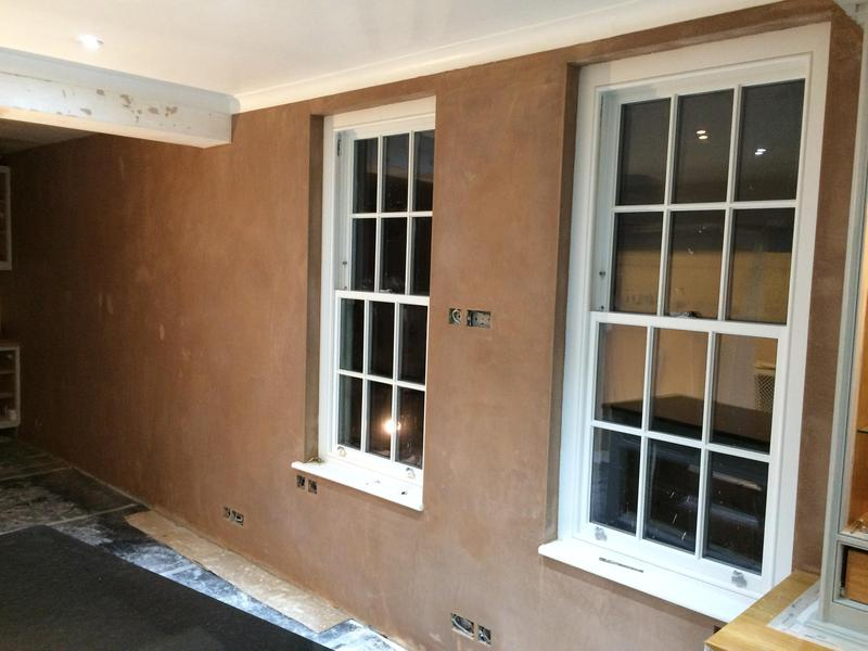 Image 49 - Plastering of a suspended dining room ceiling and walls