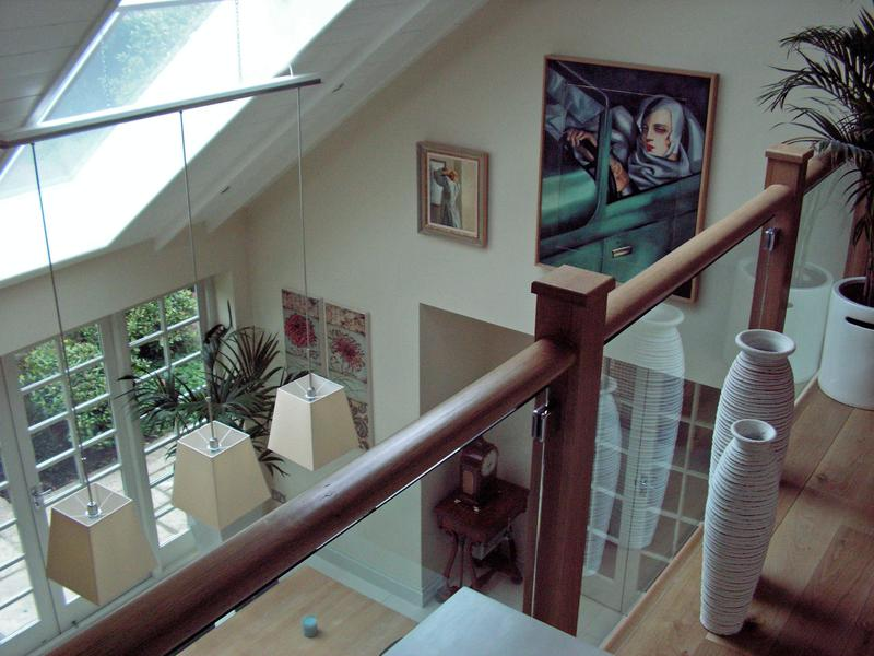 Image 4 - Gallery overlooking dining room, Oak banisters sealed with 2 coats of oil